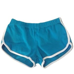 American Apparel Blue Shorts With White Stripes